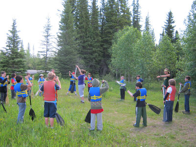 Chinook Council - Scouts Canada Kayak practice with Scouts