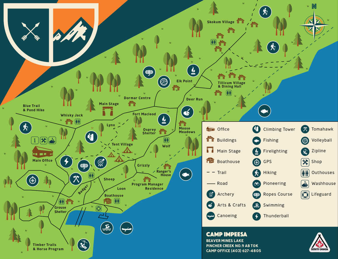 Camp Impeesa Map