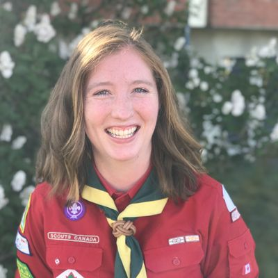 Heather McCracken Council Youth Commissioner Chinook Council - Scouts Canada